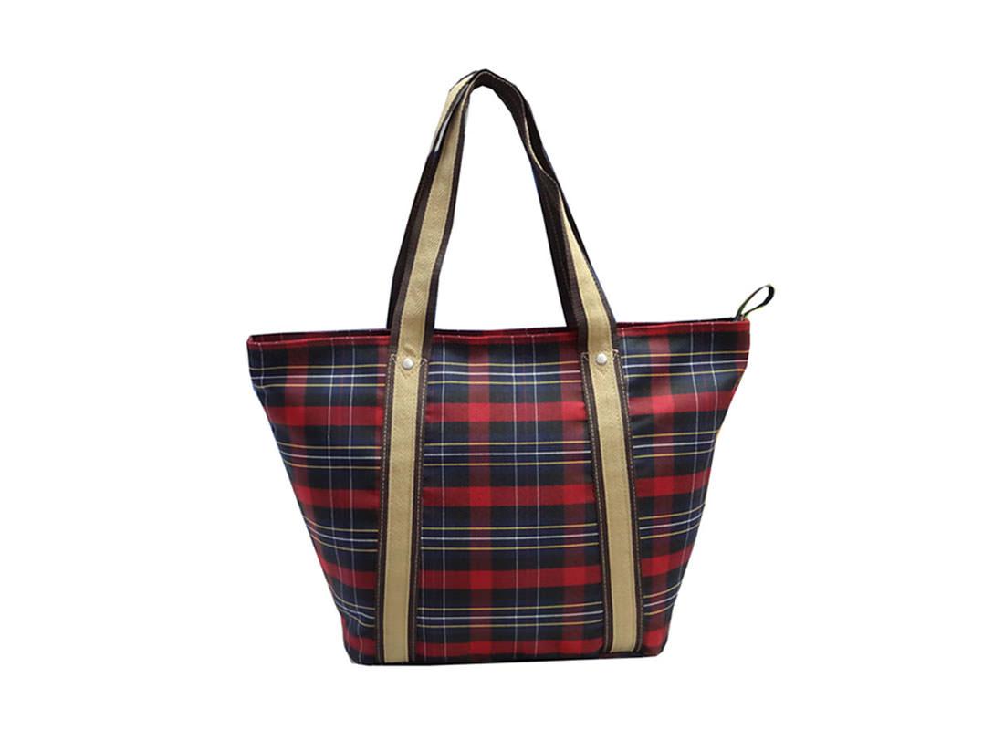 Plaid Tote Bag Back