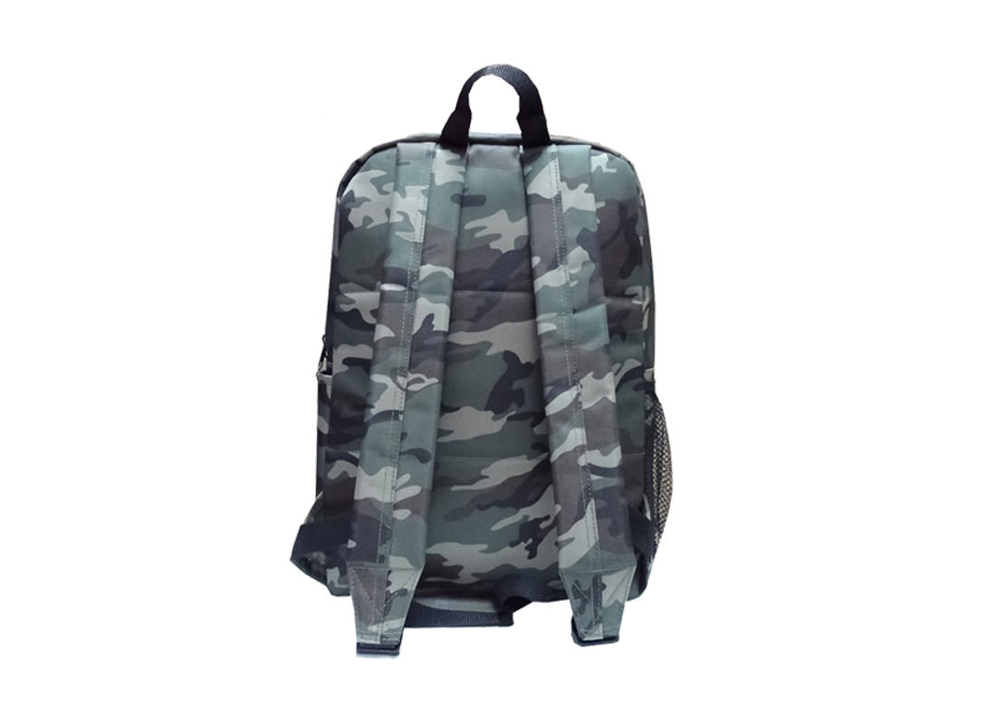 camouflage pattern backpack back