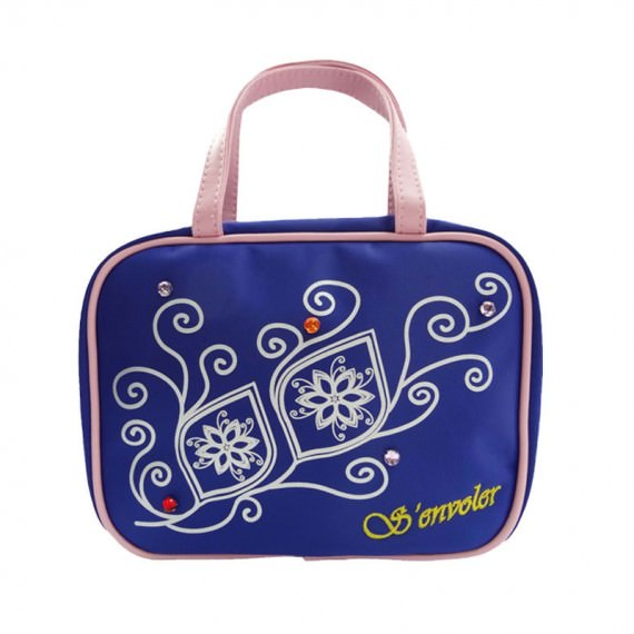 Cosmetic bag with Compartments in Blue