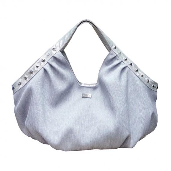 Fashion Women Handbag in Silver Color