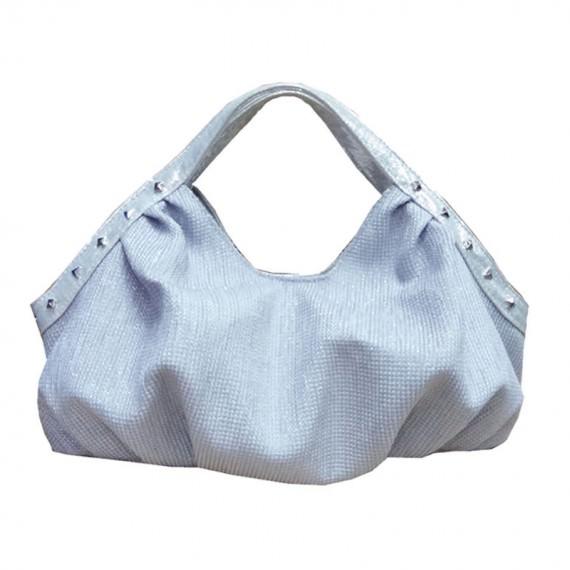 Women Small Handbag in Silver Color