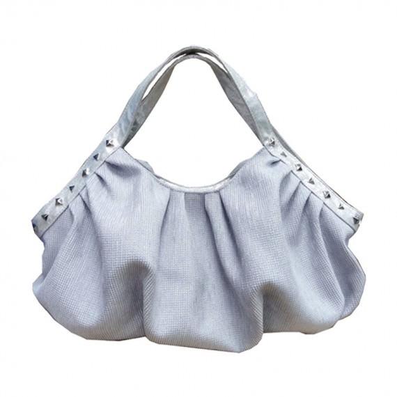 Women Handbag in Silver Color