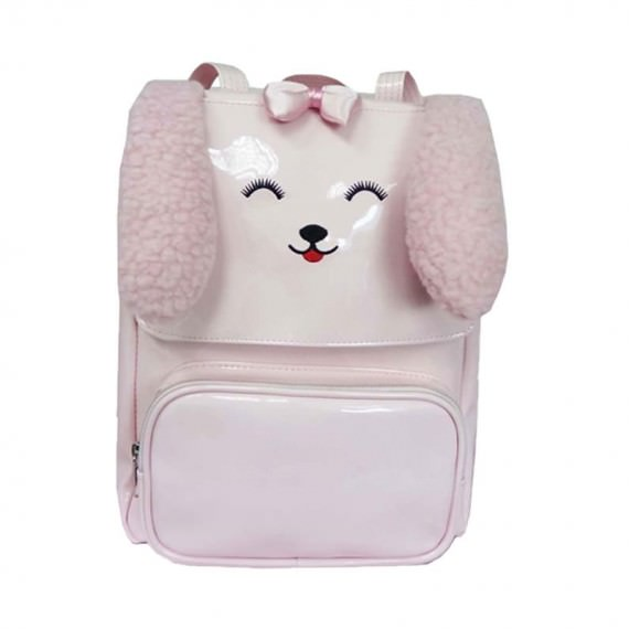 Dog Shaped Kids Backpack in Pink
