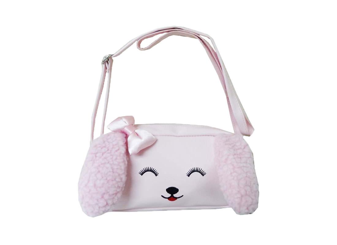 Dog Shaped Children Shoulder bag in Pink