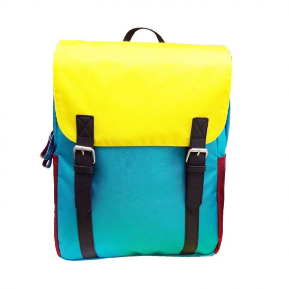 Colorful Backpack with Flap