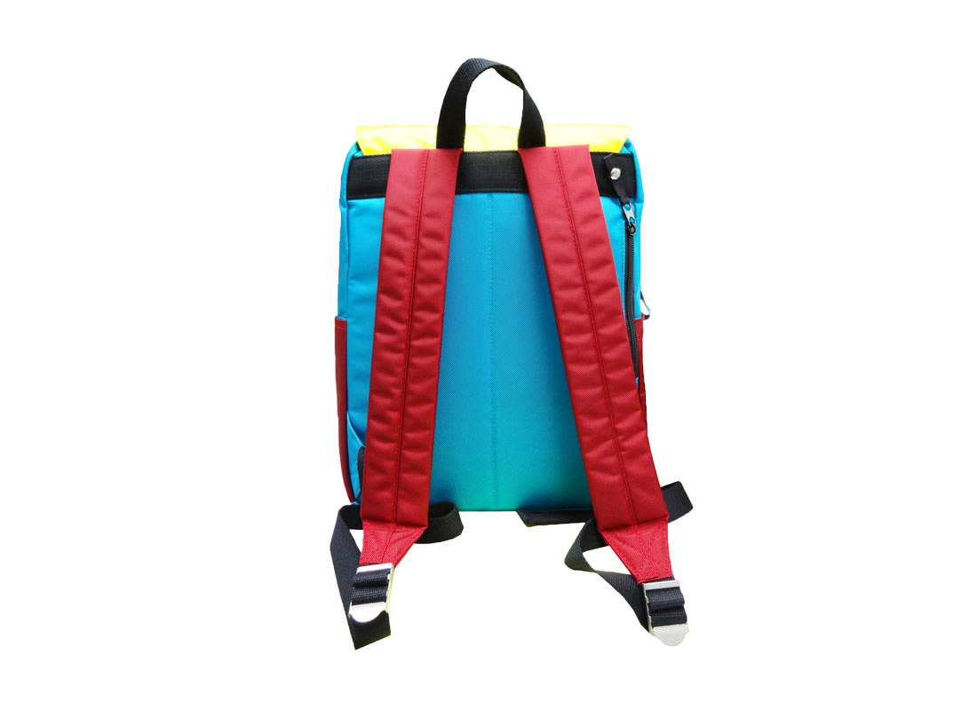 Colorful Backpack with Flap Back