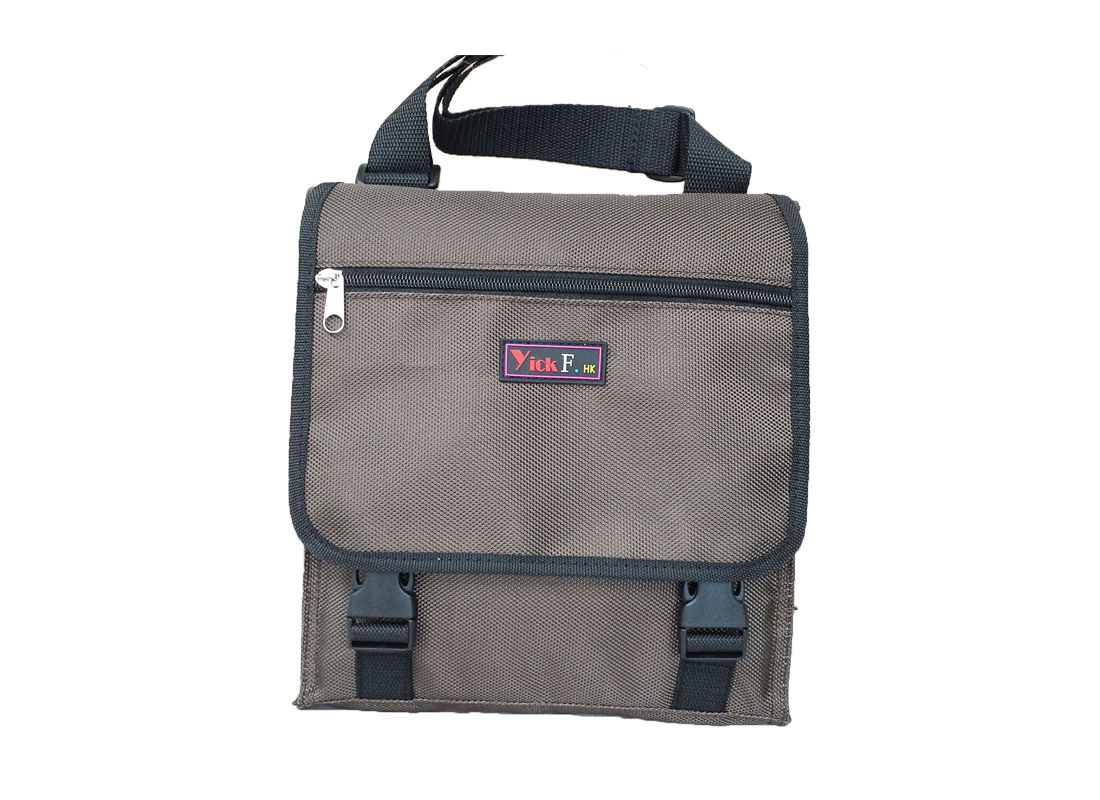 Simple Lunch Bag with Flap in Brown