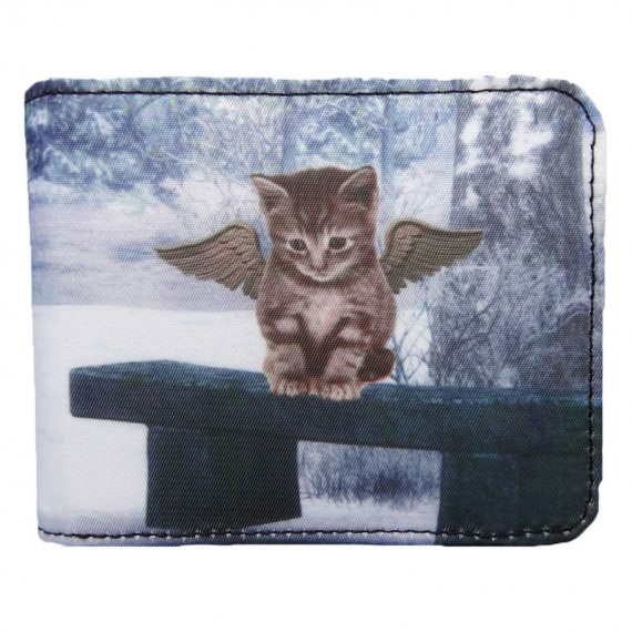 Sublimation Wallet with Cat Printing