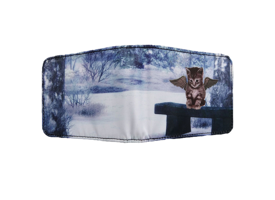 Sublimation Wallet with Cat Printing Back
