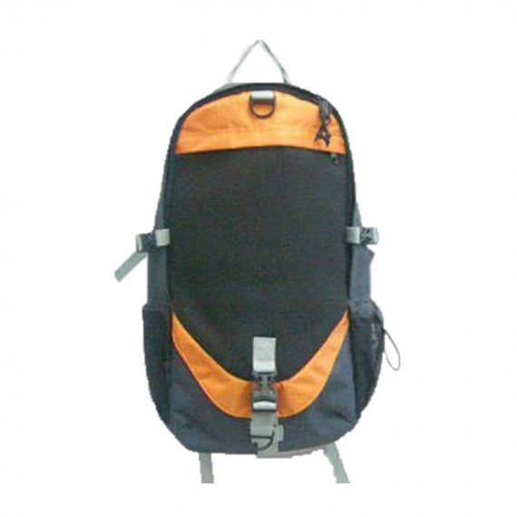 Backpack for men in Black & orange trimming