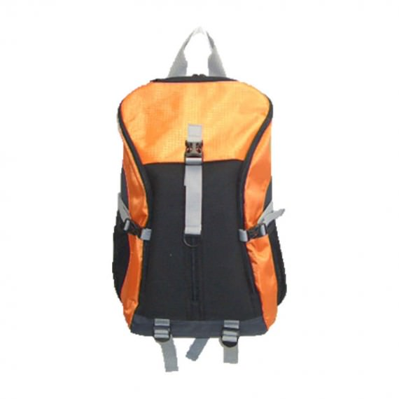 Large Backpack in Orange & Black