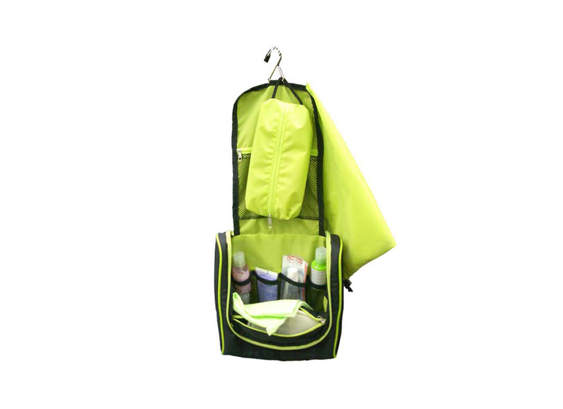 hanging Toiletry Bag in Black Open