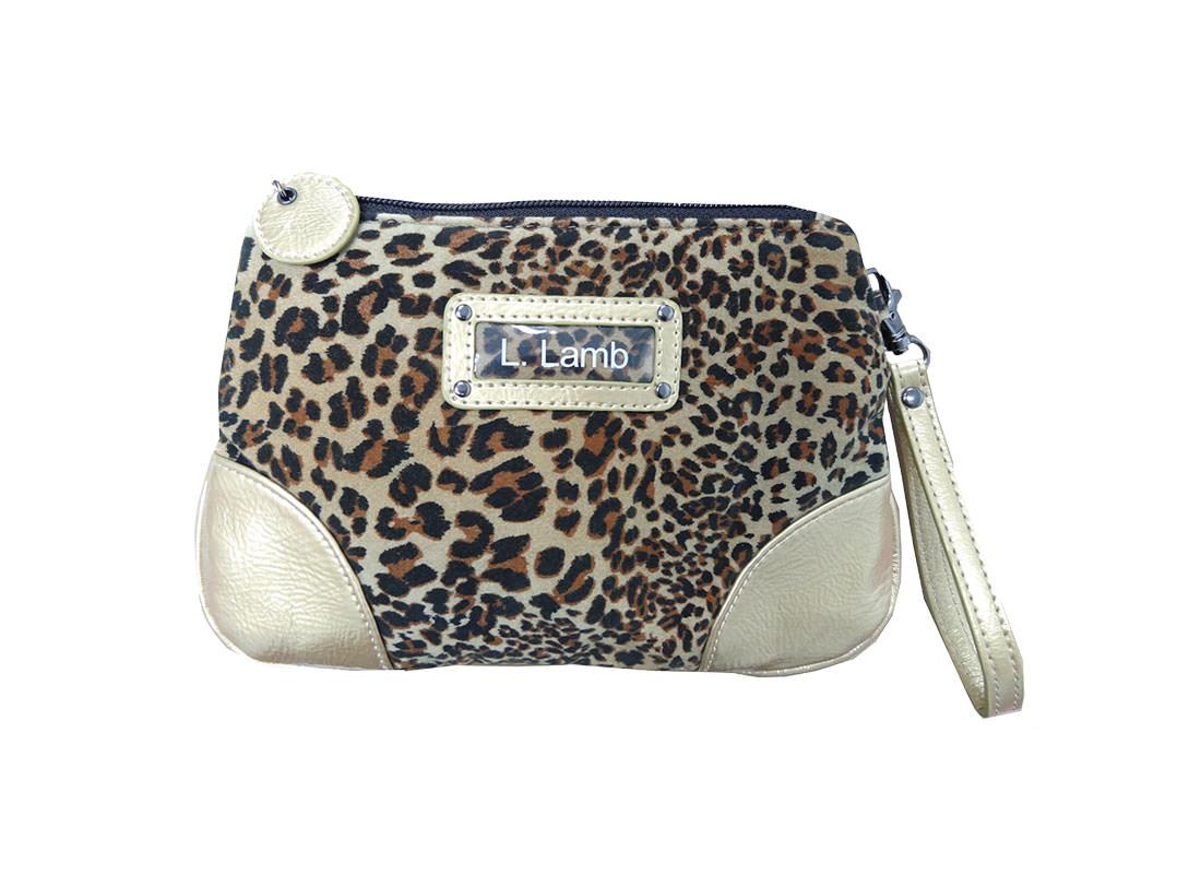 Leopard Velvet Beauty Pouch