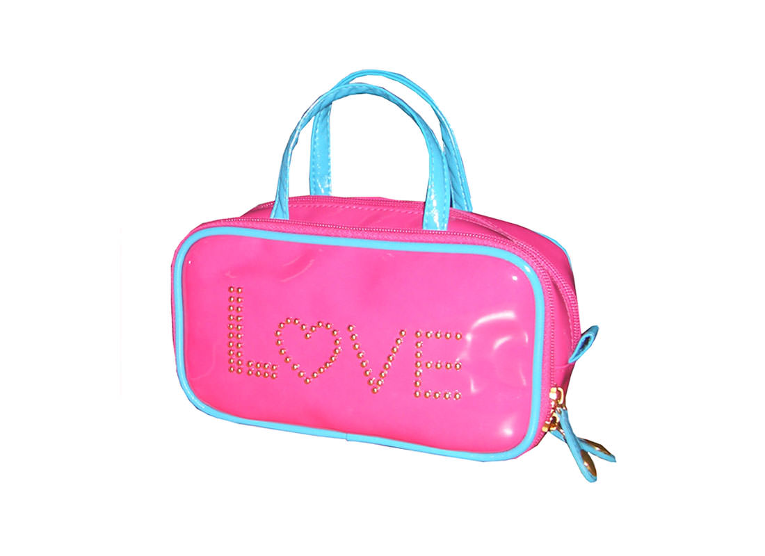 Pink Beauty Bag with Letter