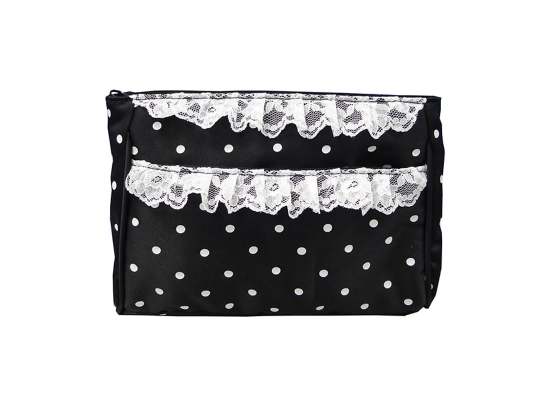 White Dots Zipper Pouch