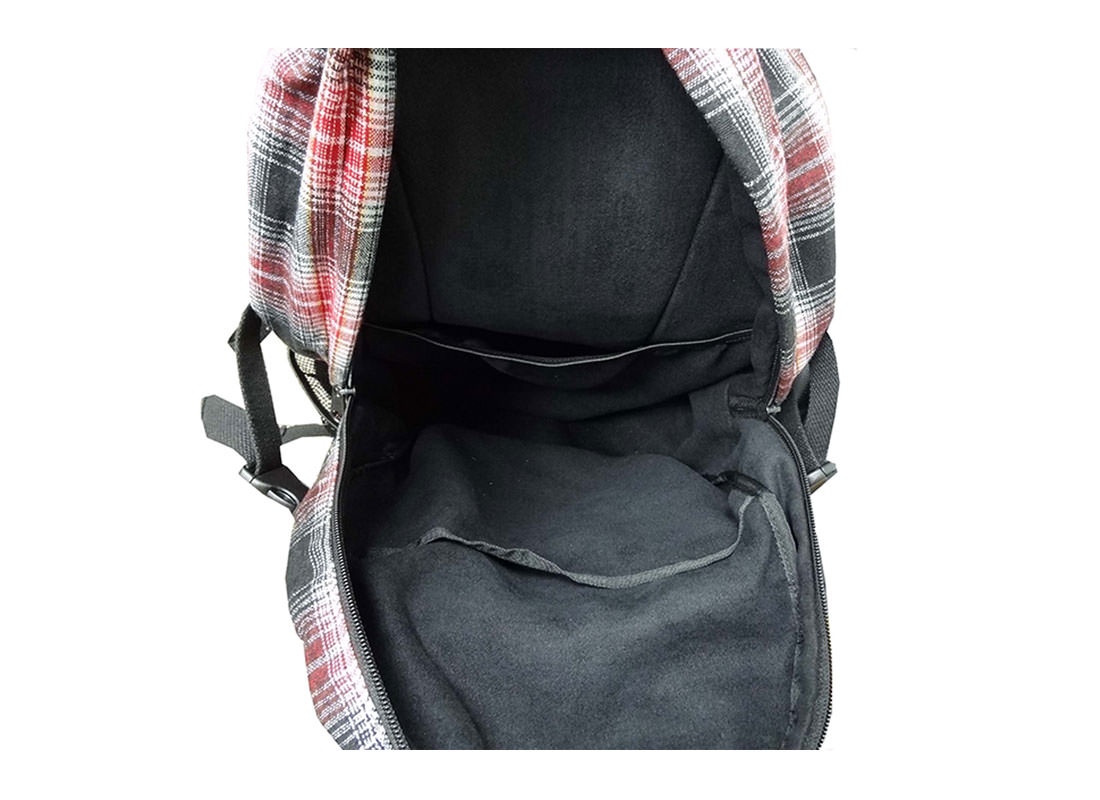 Plaid Backpack for Casual Use Open