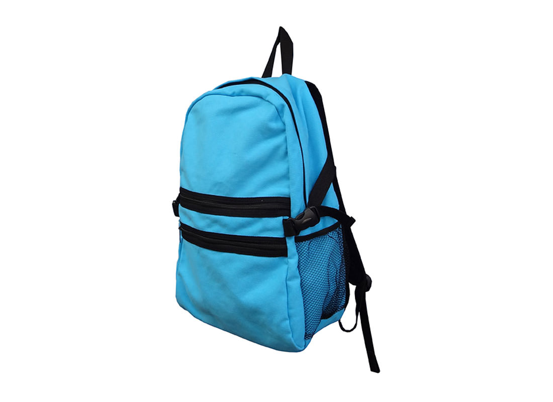Cotton Canvas Backpack in Sky Blue