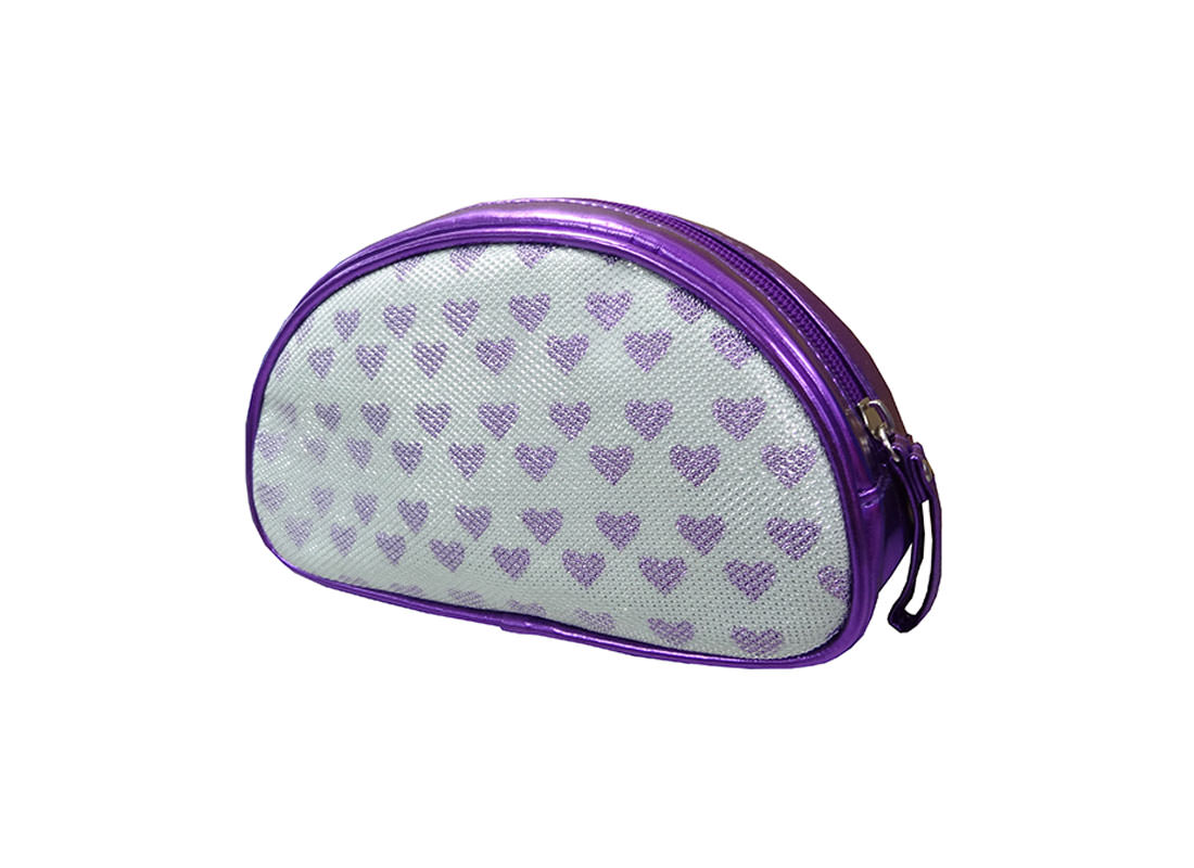 Purple Heart Zipper Pouch