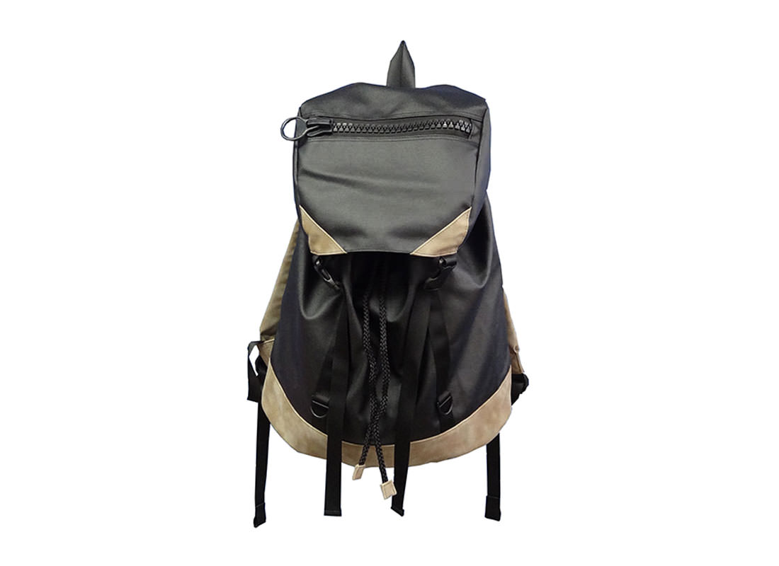 Large Backpack with Flap Closure