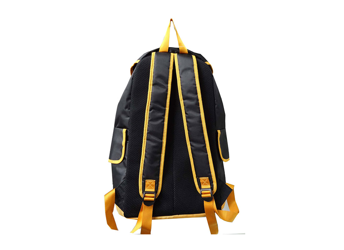 Black Backpack with Flap for Closure Back