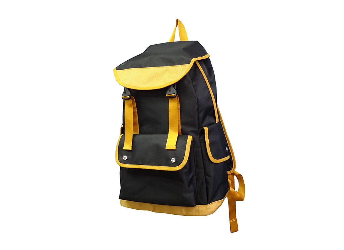 Black Backpack with Flap for Closure