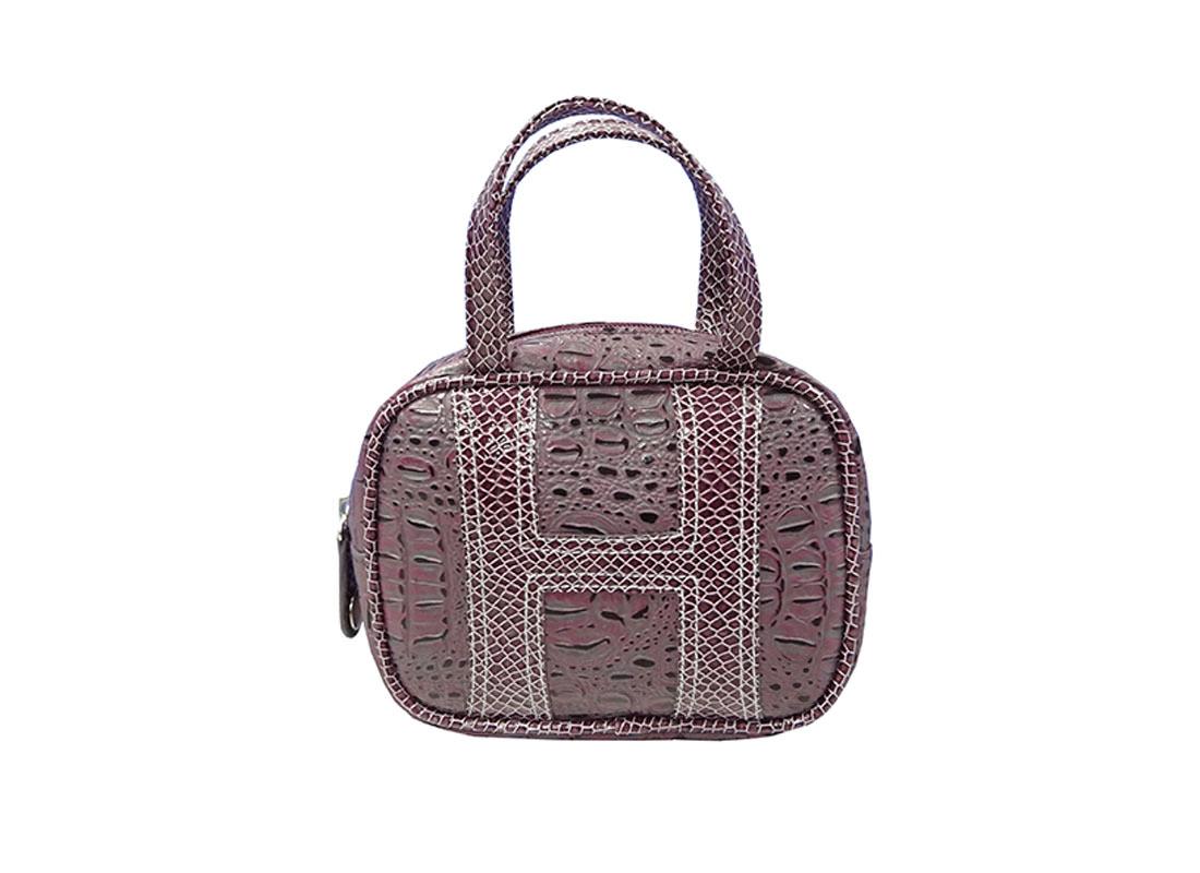 crocodile print PU cosmetic Bag