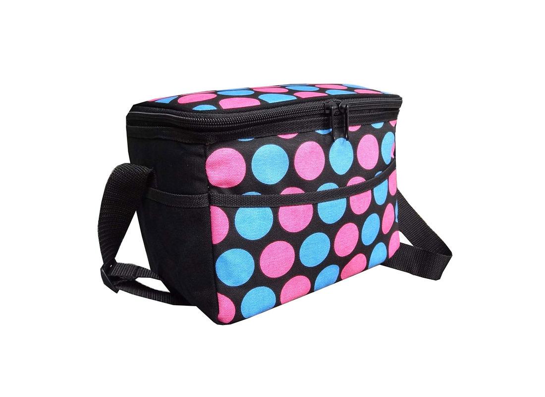 Dotted Canvas Cooler Bag side