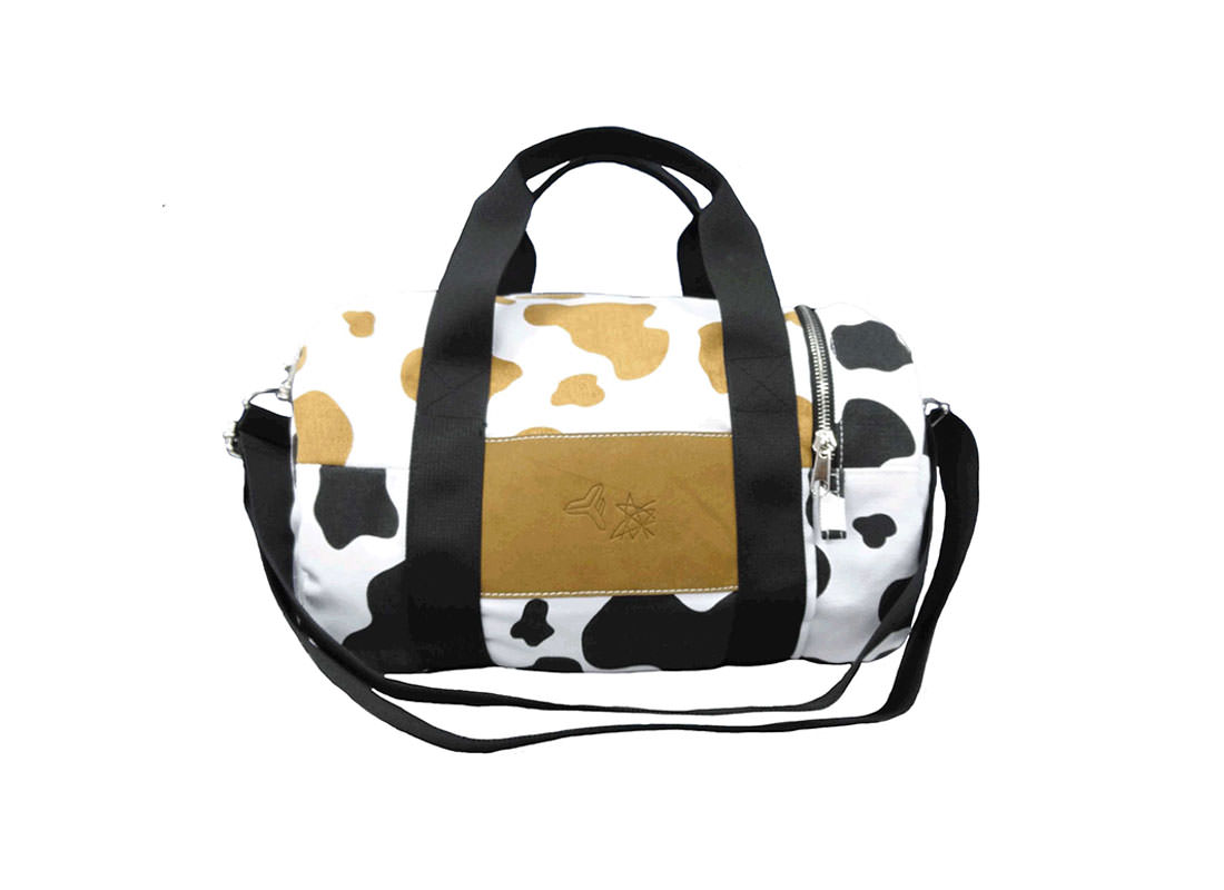Cow Print Duffel Bag