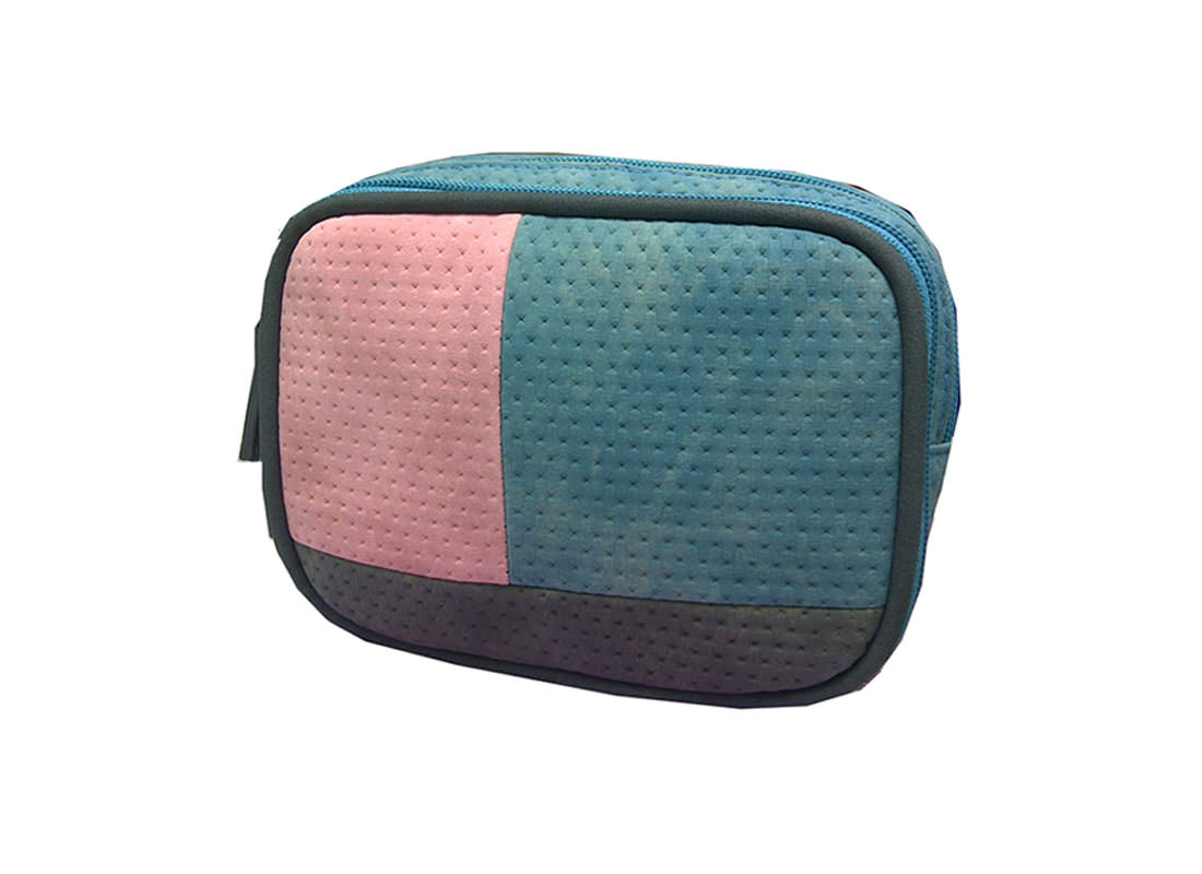 Two Compartment Cosmetic Bag Side