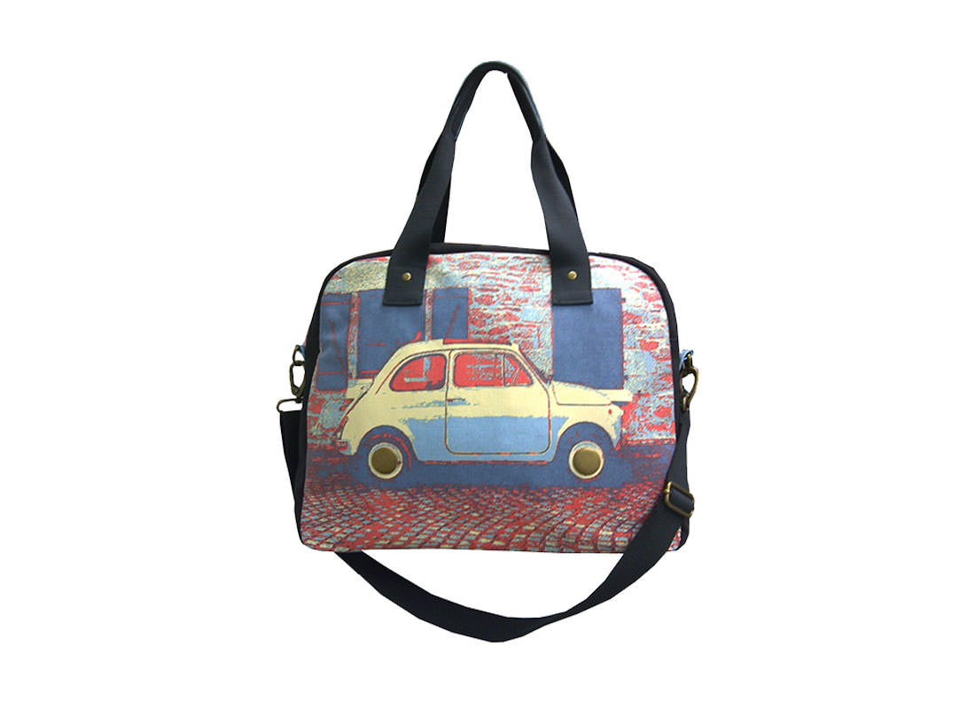 Canvas Bowling bag with Car Printing