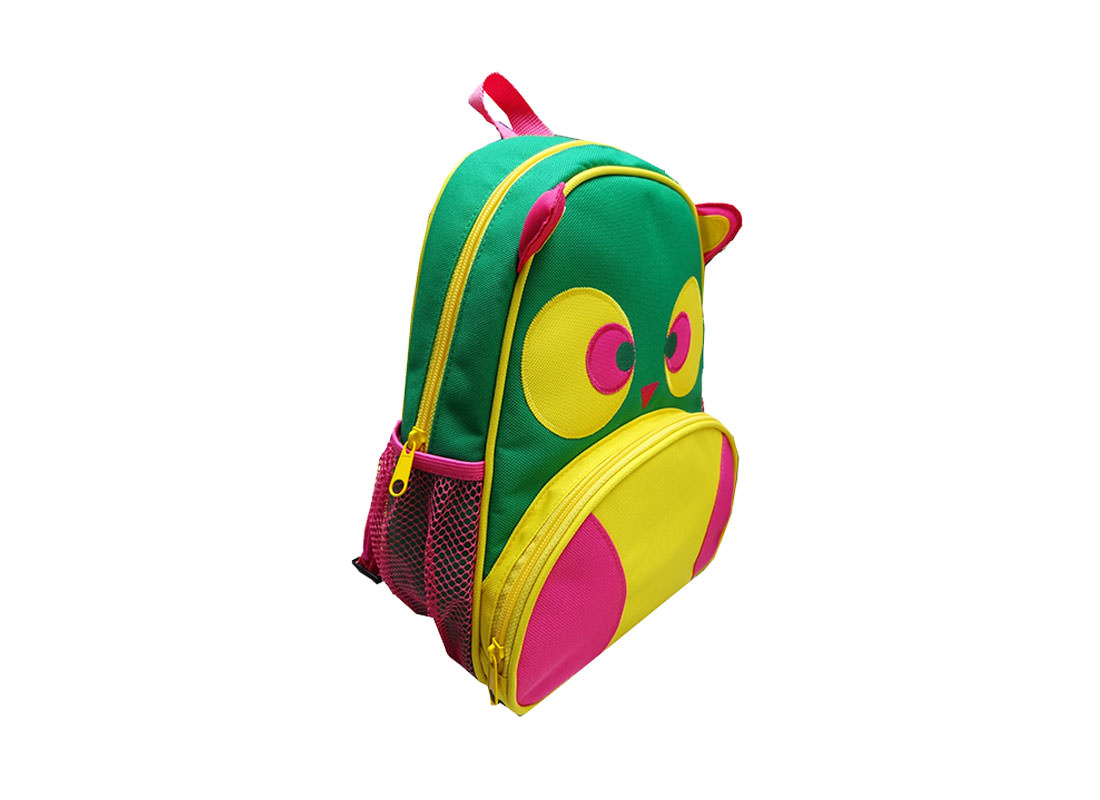 Owl Shaped Backpack for Children Side