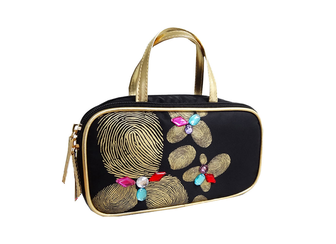 Fingerprint Flower bag cosmetic bag