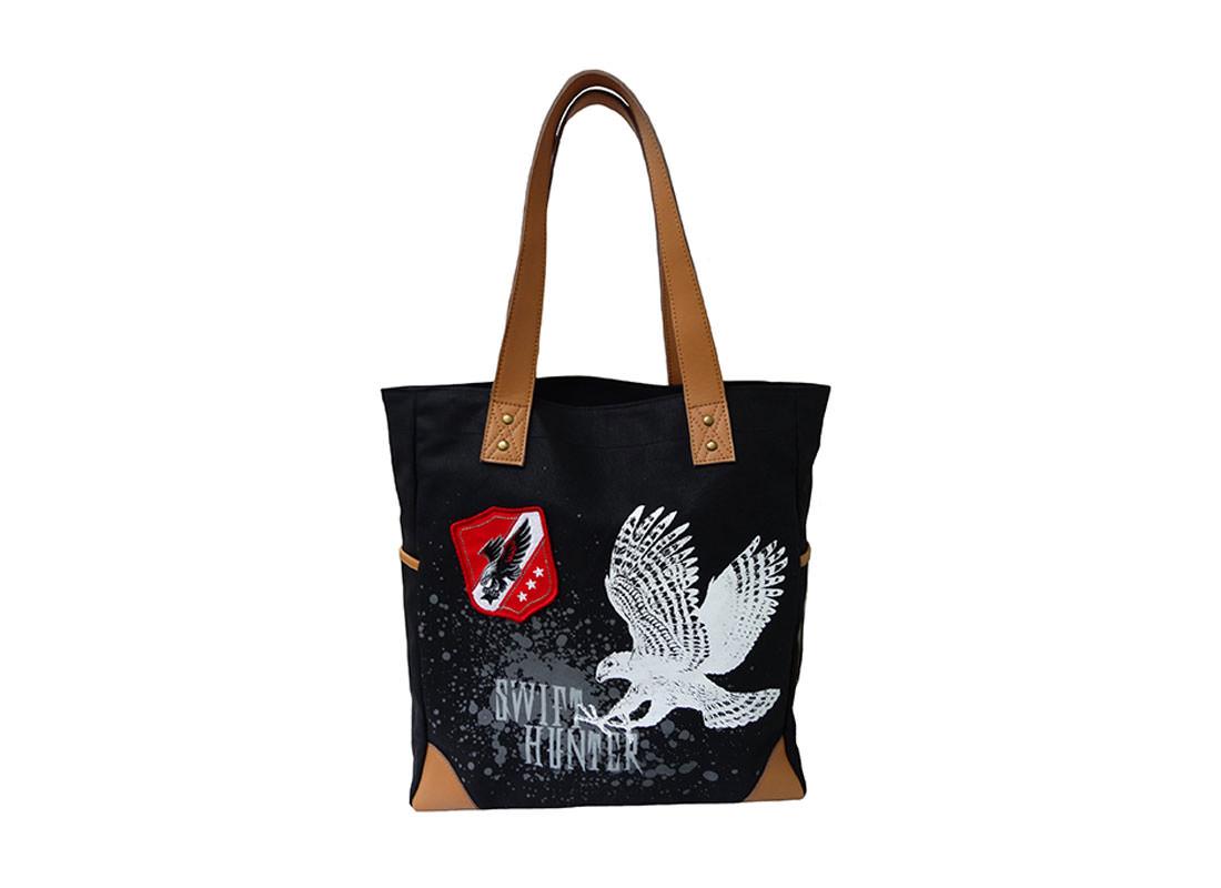 Eagle Print Canvas Tote Bag
