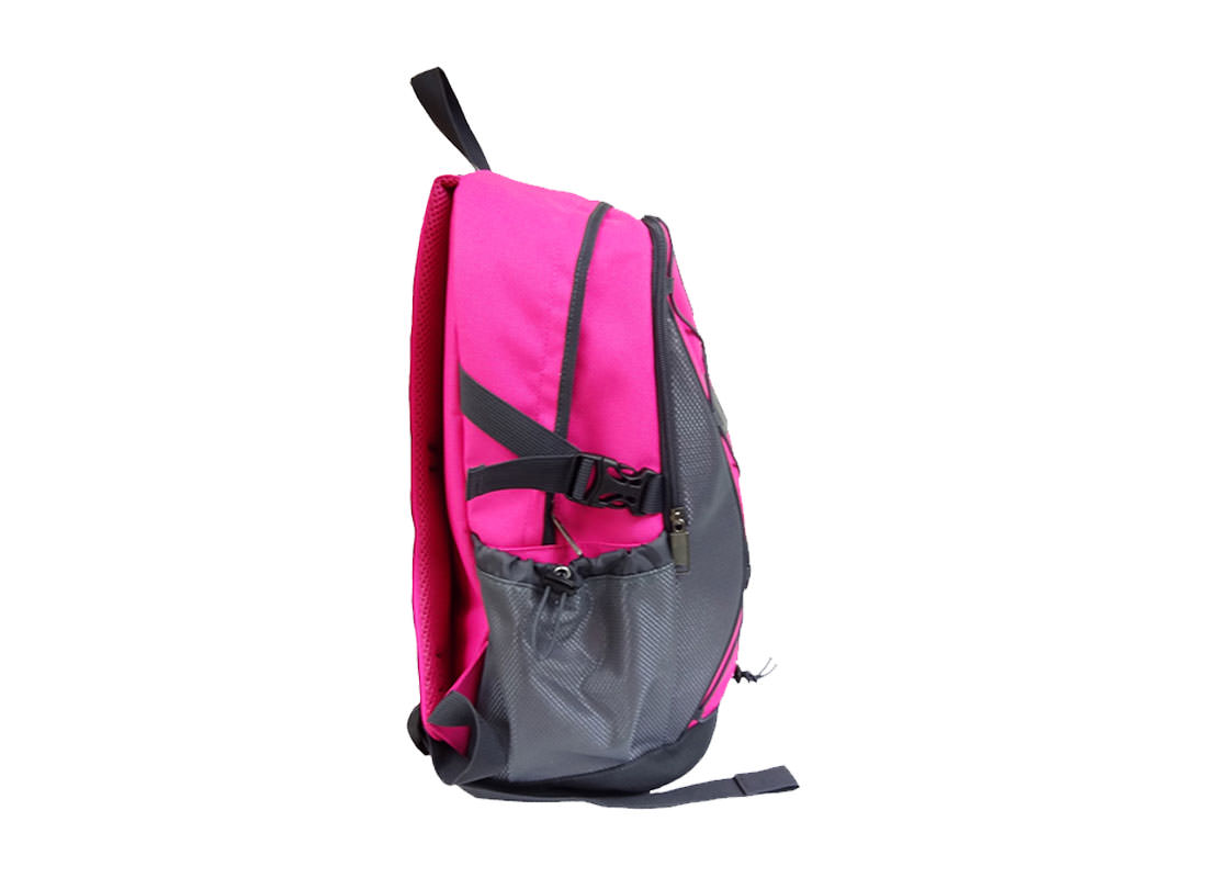 women sporty backpack in Pink side