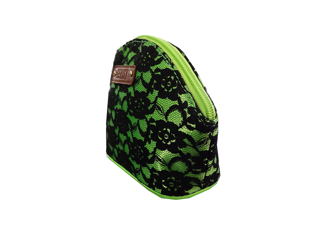 Blace Lace Zipper Bag Side