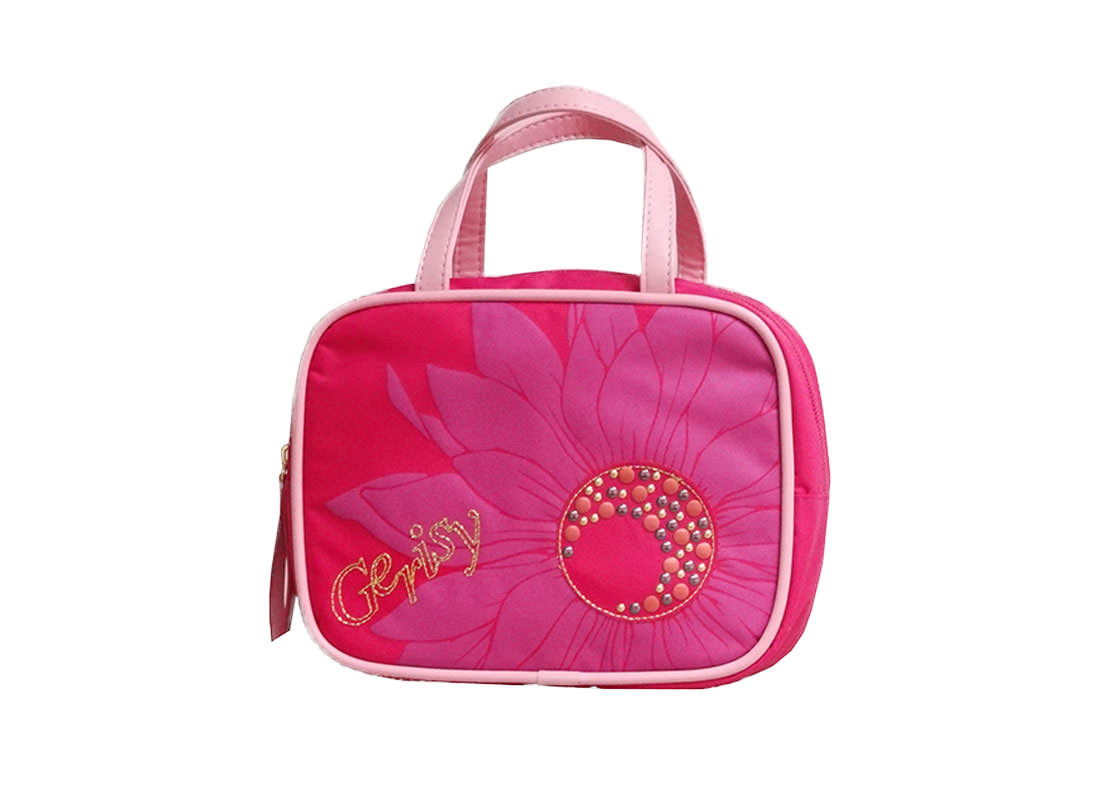 Chamomile Flower Cosmetic bag in pink