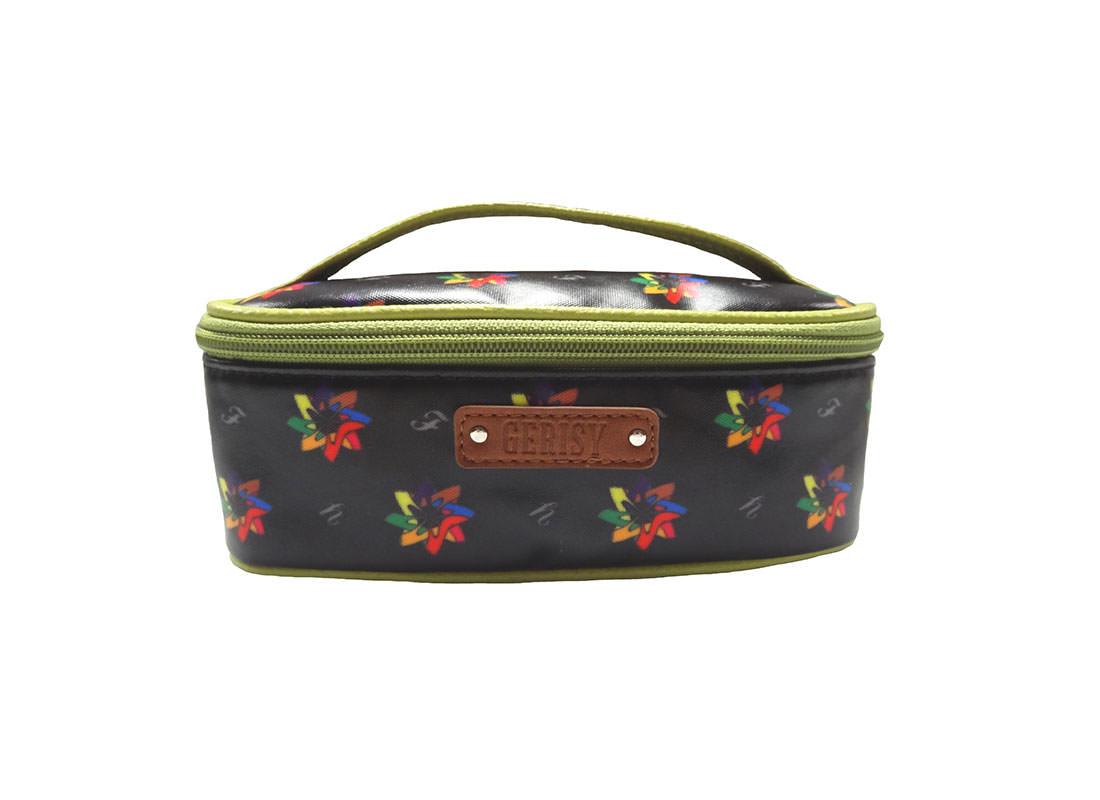 Kaleidoscopic Pattern Cosmetic Bag with Grab Handle