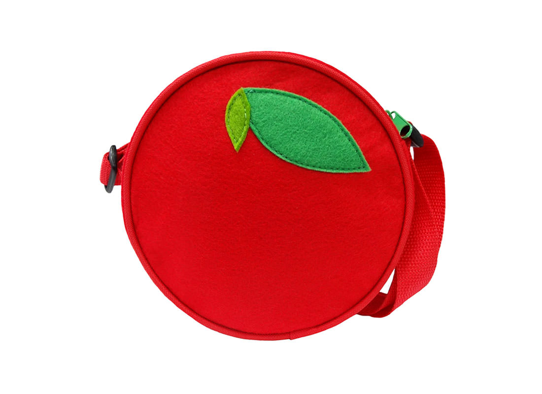 Apple Shoulder Bag for Children Back