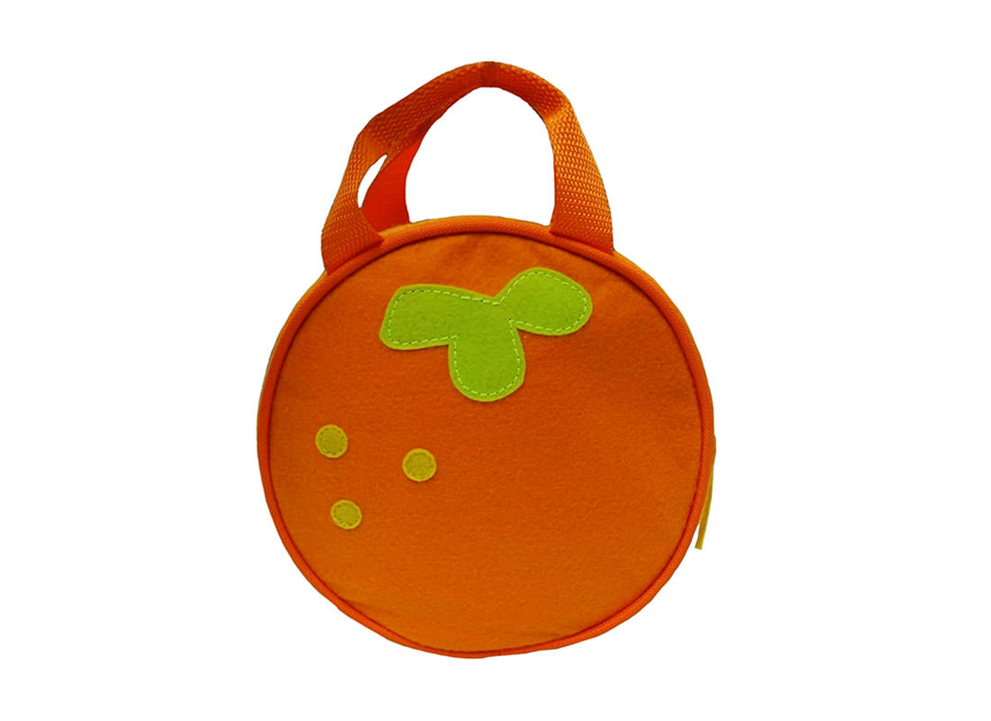 Orange Handbag for Children back