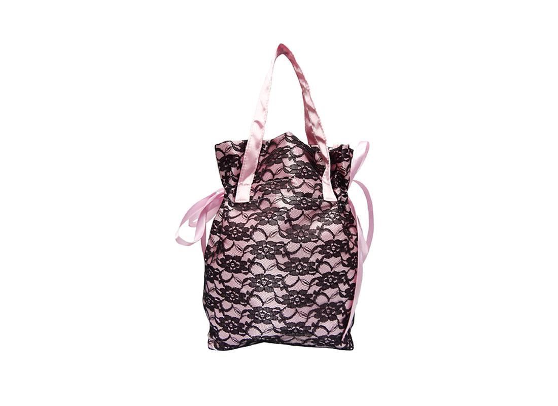 small drawstring bag with handle