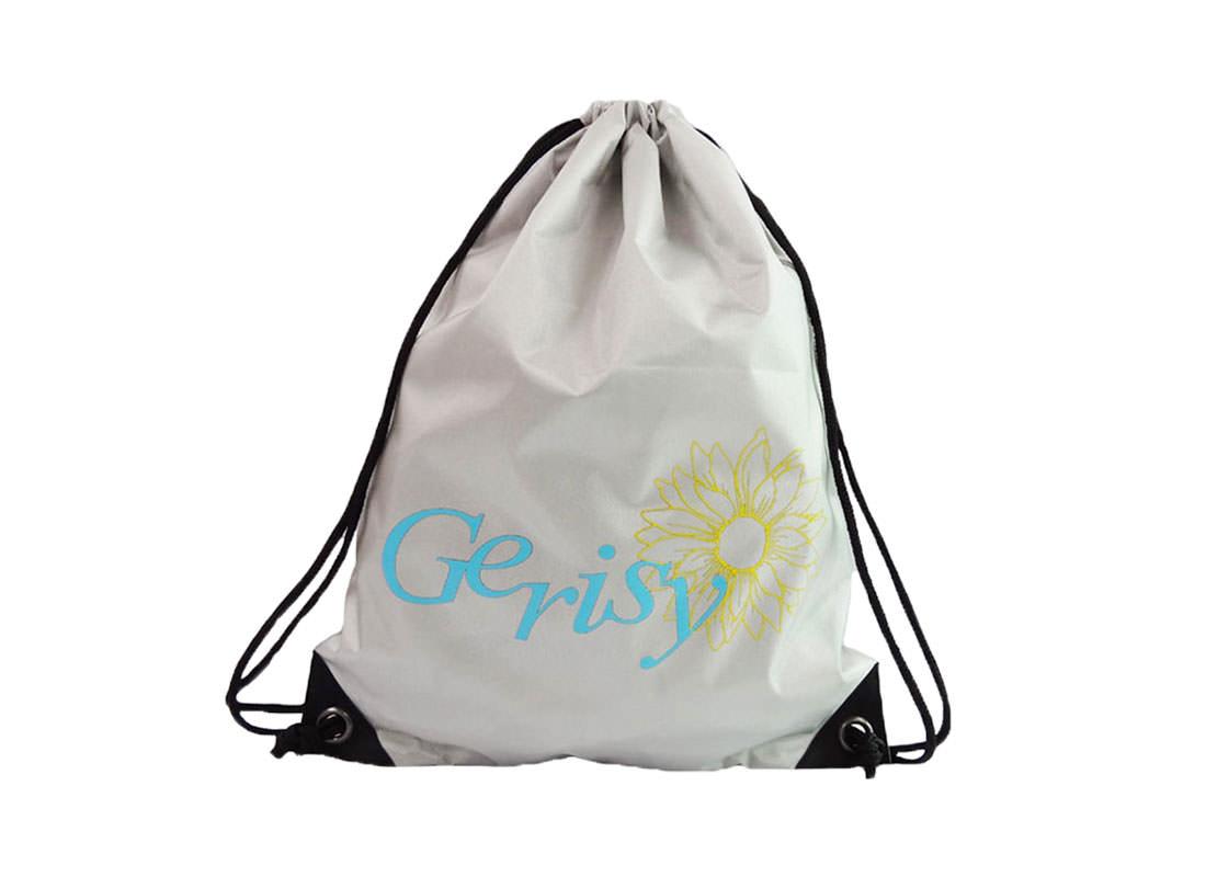 drawstring sport bag with gerisy logo printing