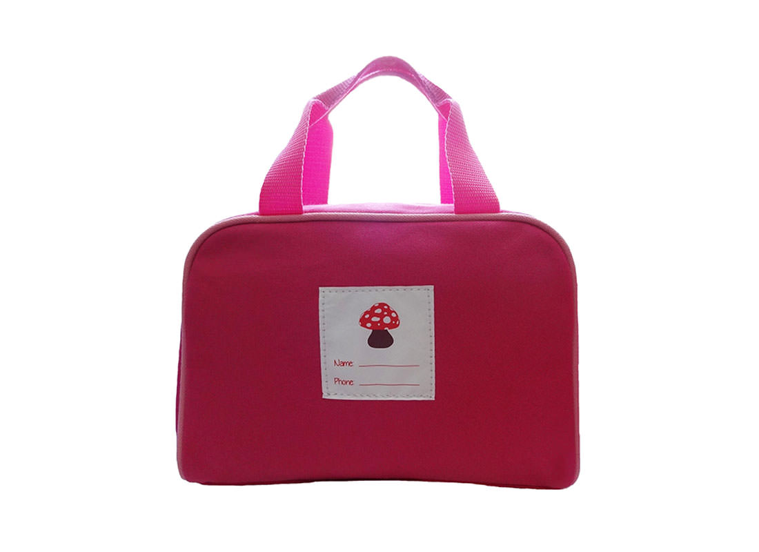 kid handbag with mushroom house printing back