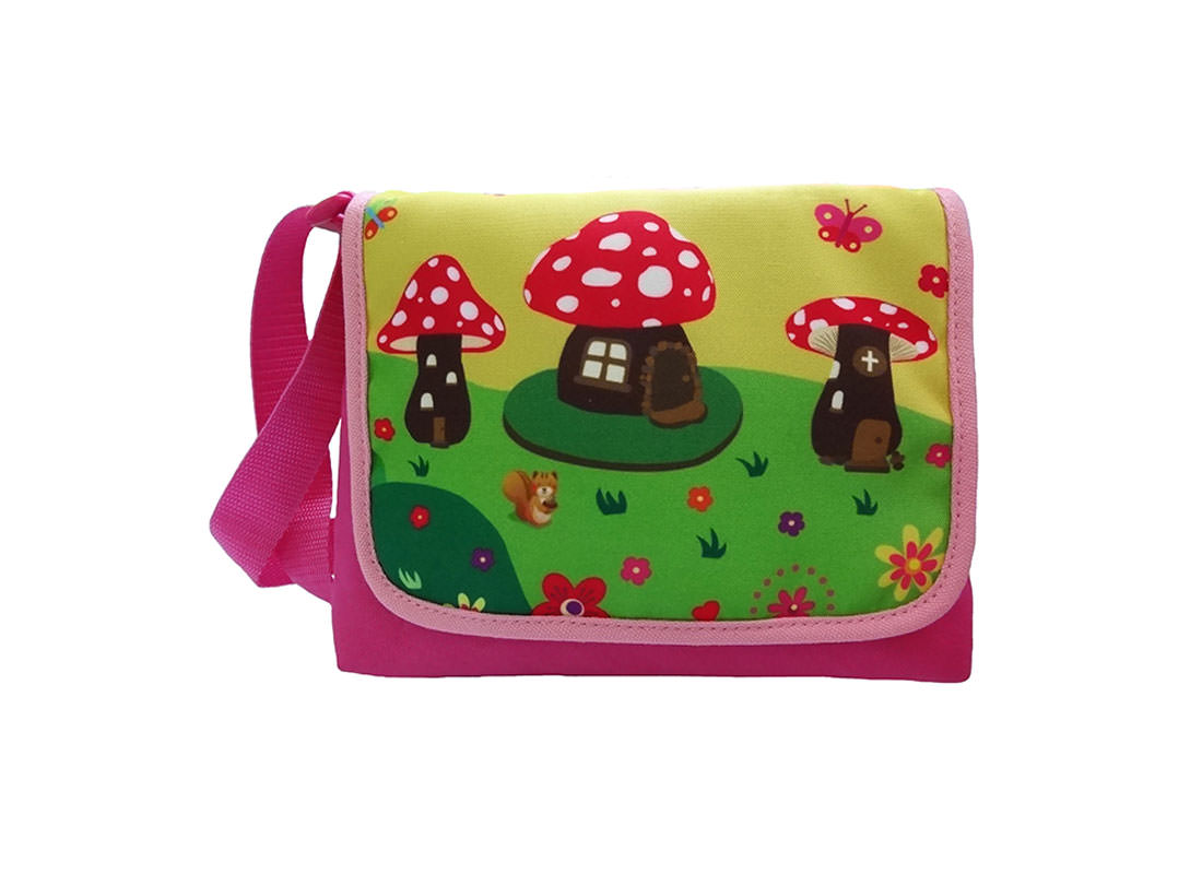 Mushroom House Kid Shoulder Bag with Flap