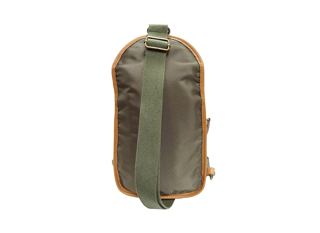 Men Sling Bag in Military Green Back