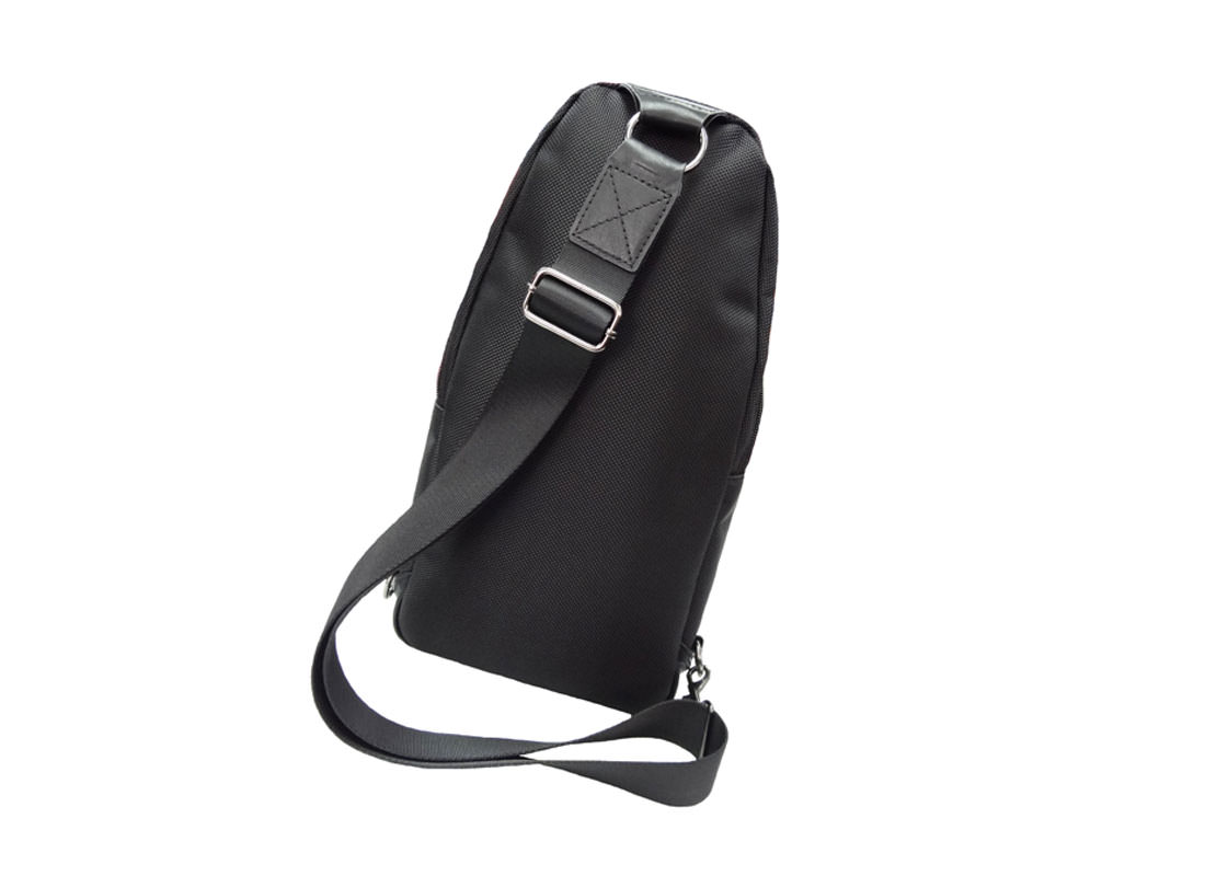 Black Sling Bag for men side back
