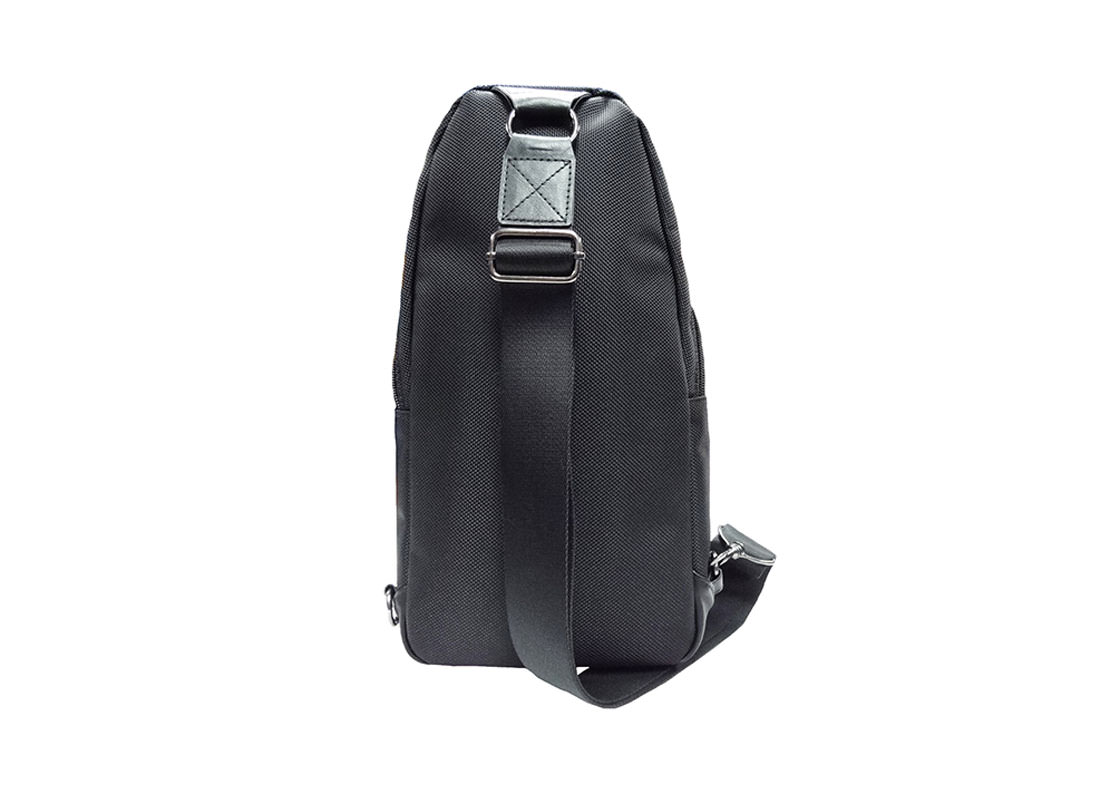 Black Sling bag for men back