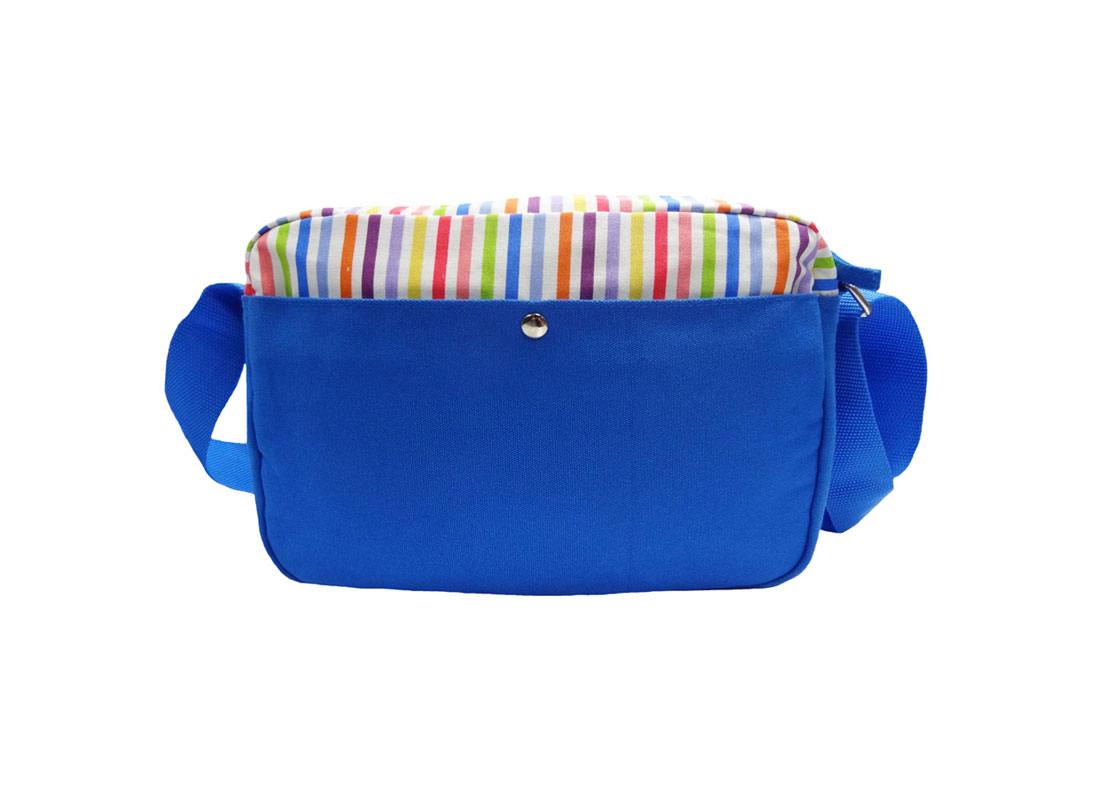colorful stripe shoulder bag back