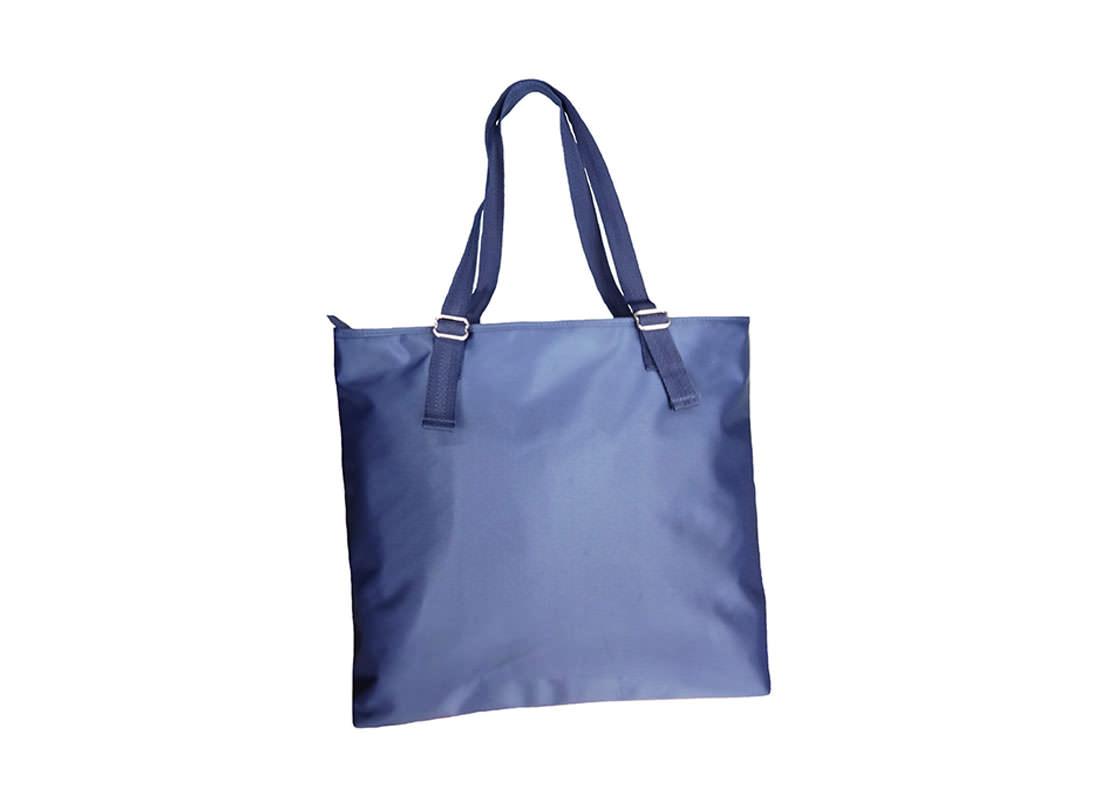 Men Tote Bag in Blue Back