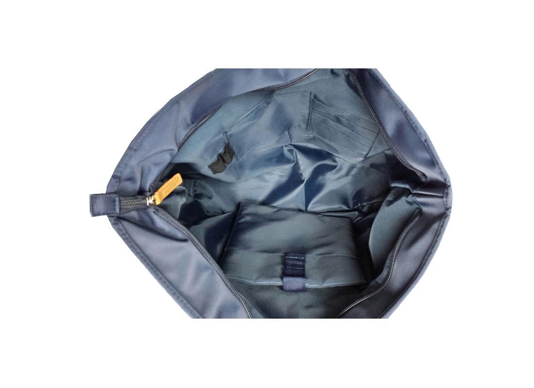Men Tote Bag in Blue interior