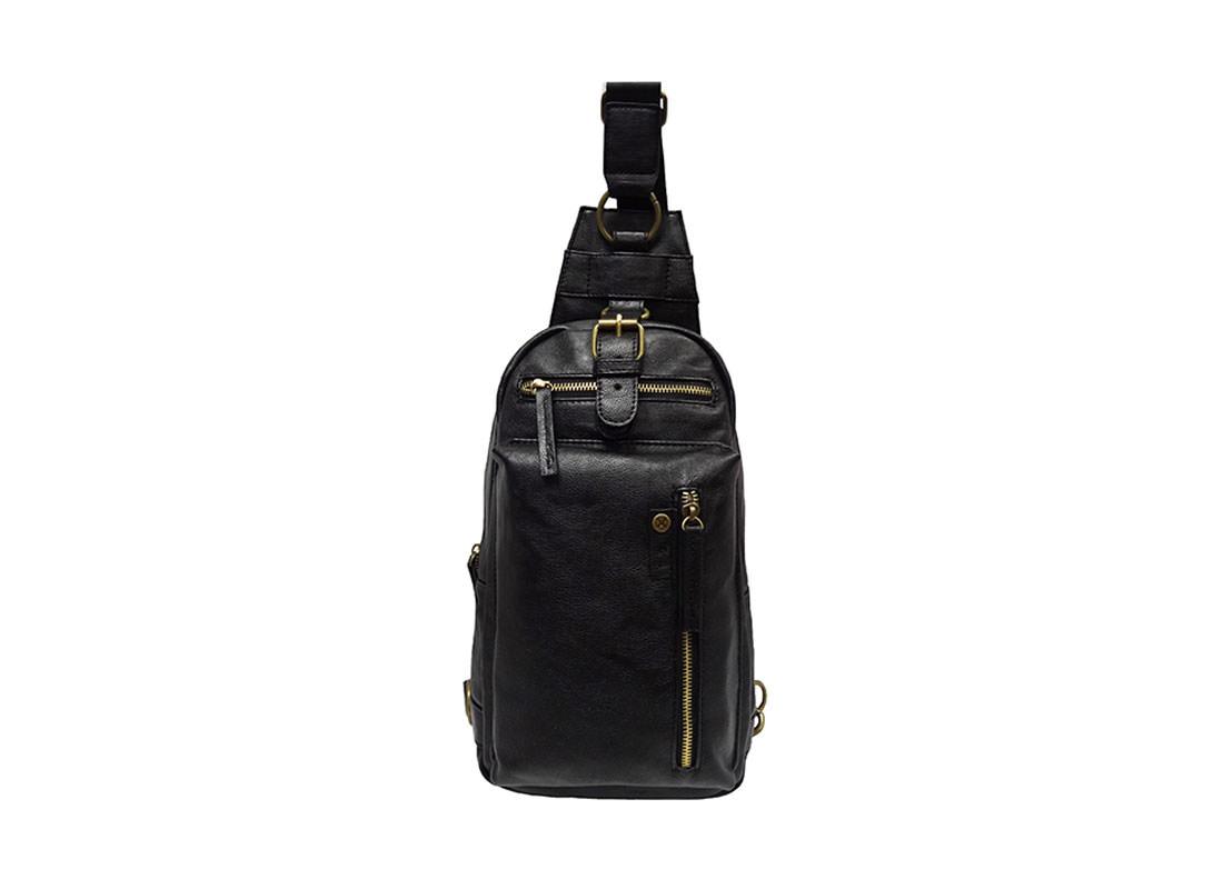 faux leather sling bag for men